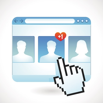Conceito de mídia social do vetor