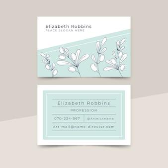 Conceito de minimalismo para cartão de visita