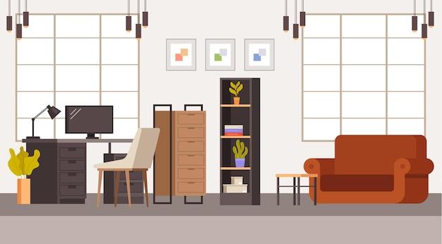 Conceito de mobiliário de escritório interior