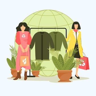 Conceito de moda sustentável de design plano