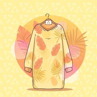 Conceito de moda sustentável desenhado à mão plana Vetor grátis