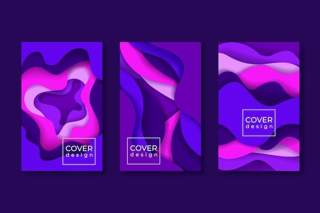 Conceito de modelo de capa colorida