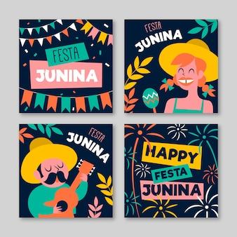 Conceito de modelo de cartão de festa junina