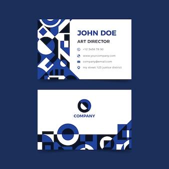 Conceito de modelo de cartão de visita com azul