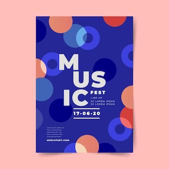 Conceito de modelo de cartaz de design festival