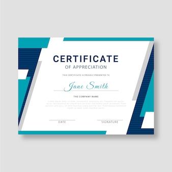 Conceito de modelo de certificado abstrato