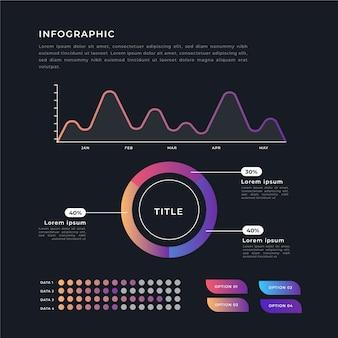 Conceito de modelo de coleção infográfico gradiente
