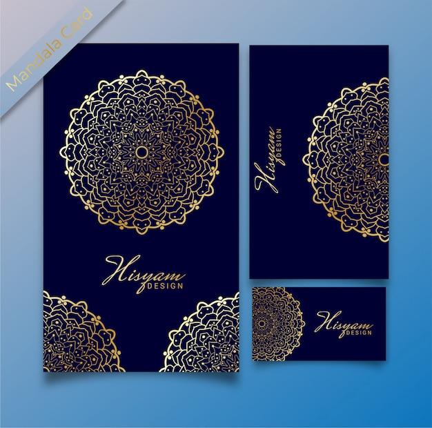 Conceito de modelo de convite de luxo cartão de mandala