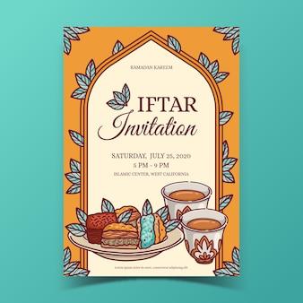 Conceito de modelo de convite iftar