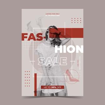 Conceito de modelo de desconto de venda de moda