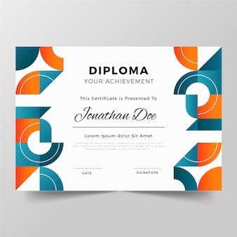 Conceito de modelo de diploma