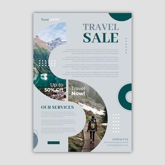 Conceito de modelo de folheto de venda de viagens