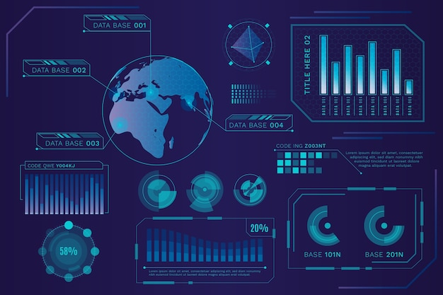 Conceito de modelo de infografia futurista