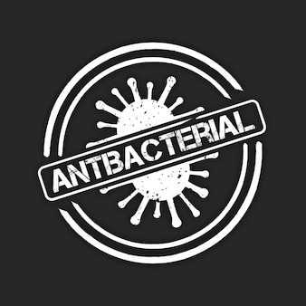 Conceito de modelo de logotipo antibacteriano