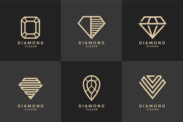 Conceito de modelo de logotipo de diamante