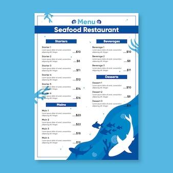 Conceito de modelo de menu