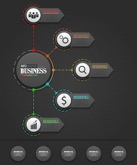 Conceito de modelo de negócio de infográficos