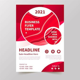 Conceito de modelo de panfleto de negócios