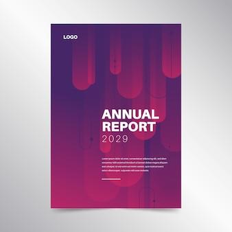 Conceito de modelo de relatório anual colorido