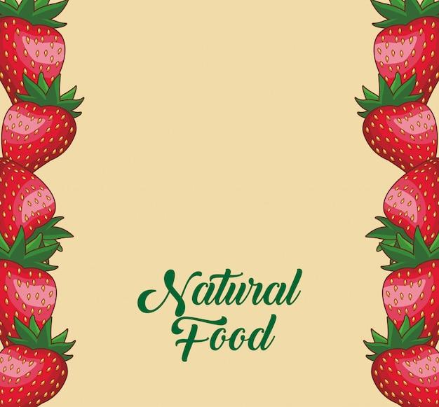 Conceito de moldura de frutas naturais