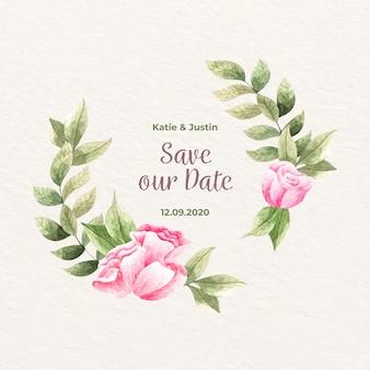 Conceito de moldura floral casamento
