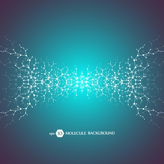 Conceito de moléculas de neurônios e sistema nervoso. pesquisa médica científica.