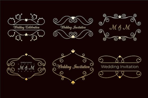 Conceito de monogramas de casamento elegante