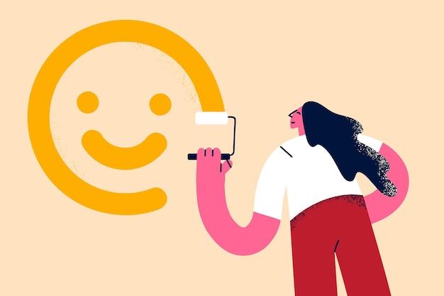 Conceito de motivação de pensamento positivo otimismo