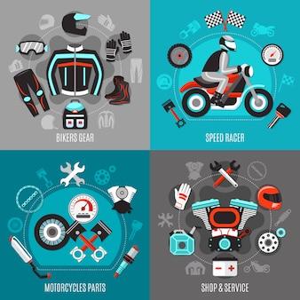 Conceito de motocicleta 2x2