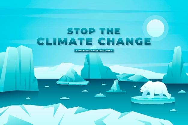 Conceito de mudança climática de gradiente