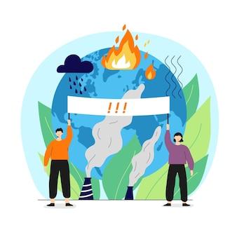 Conceito de mudança climática desenhado à mão