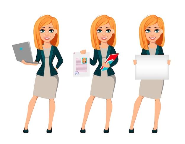 Conceito de mulher de negócios moderna