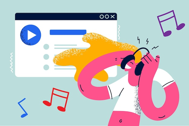 Conceito de música de tecnologias modernas de entretenimento