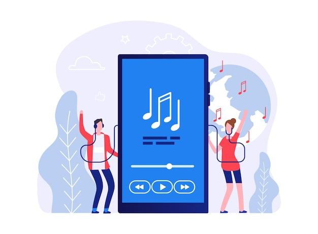 Conceito de música móvel