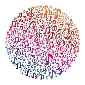 Conceito de música vector - notas musicais