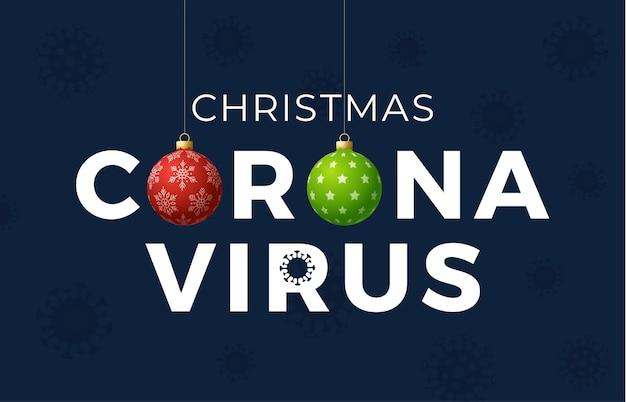 Conceito de natal do coronavirus