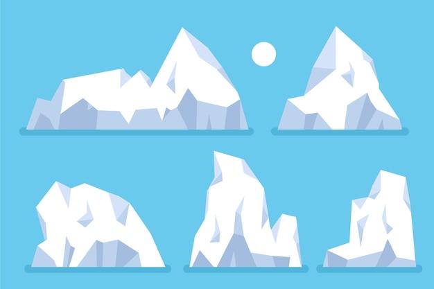 Conceito de natureza da coleção iceberg