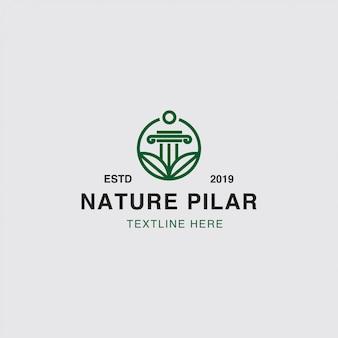 Conceito de natureza e folha de logotipo