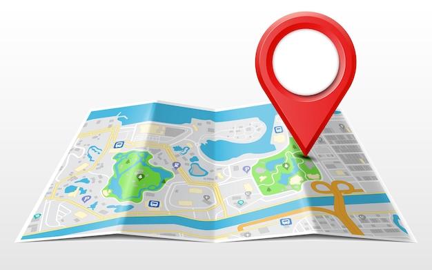 Conceito de navegação global com o ícone do ponteiro de localização nele. ilustração vetorial Vetor Premium