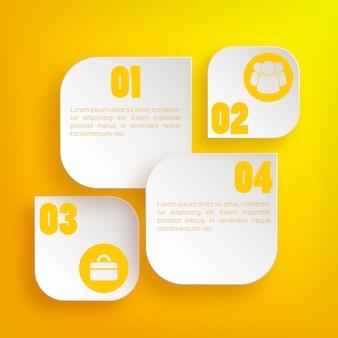 Conceito de negócio da web infográfico com ícones e elementos da web de luz