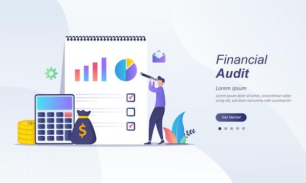 Conceito de negócio de auditoria financeira