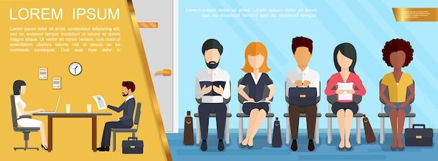 Conceito de negócio de contratação e recrutamento