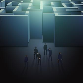 Conceito de negócio de labirinto