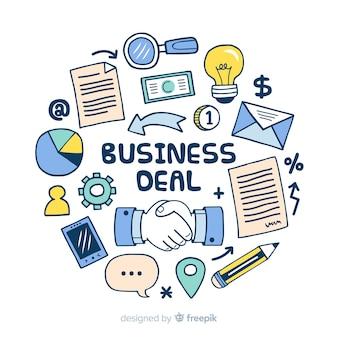 Conceito de negócio de mão desenhada