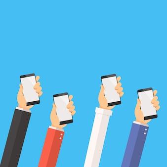 Conceito de negócio de mídia social