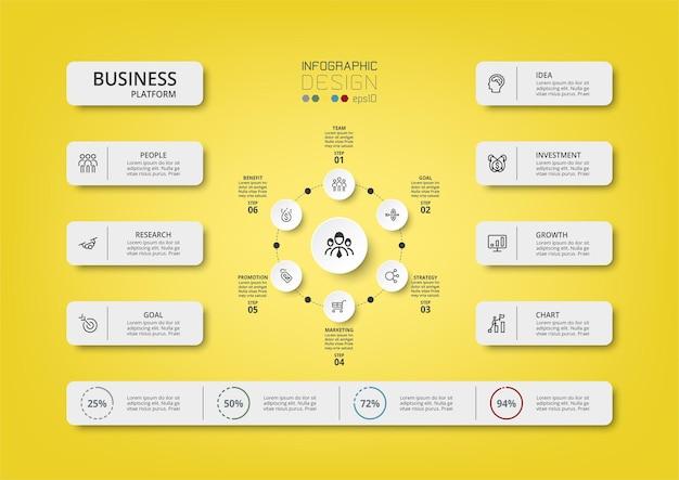 Conceito de negócio de modelo de infográfico