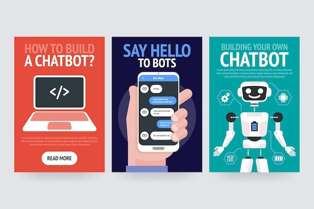Conceito de negócio do chatbot. banner moderno para o site, web, cartões de brochura