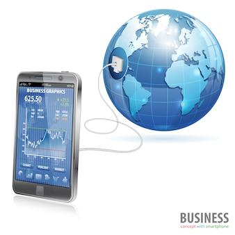 Conceito de negócio global