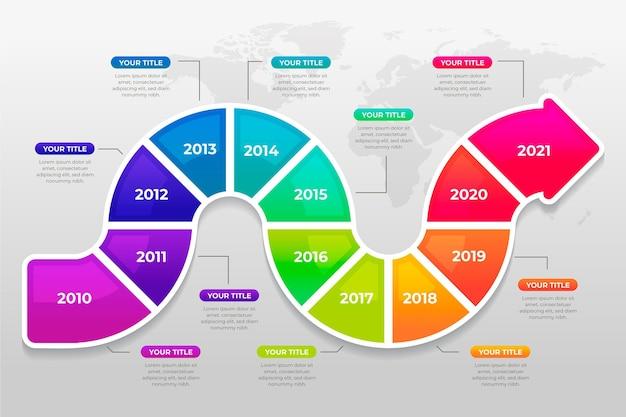Conceito de negócio infográfico com progresso