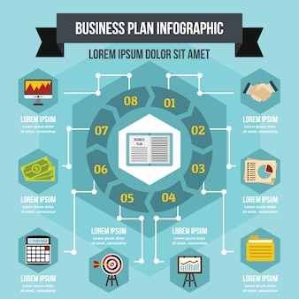 Conceito de negócio infográfico, estilo simples